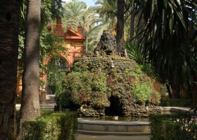 Wasserspiele am Alcázar von Sevilla